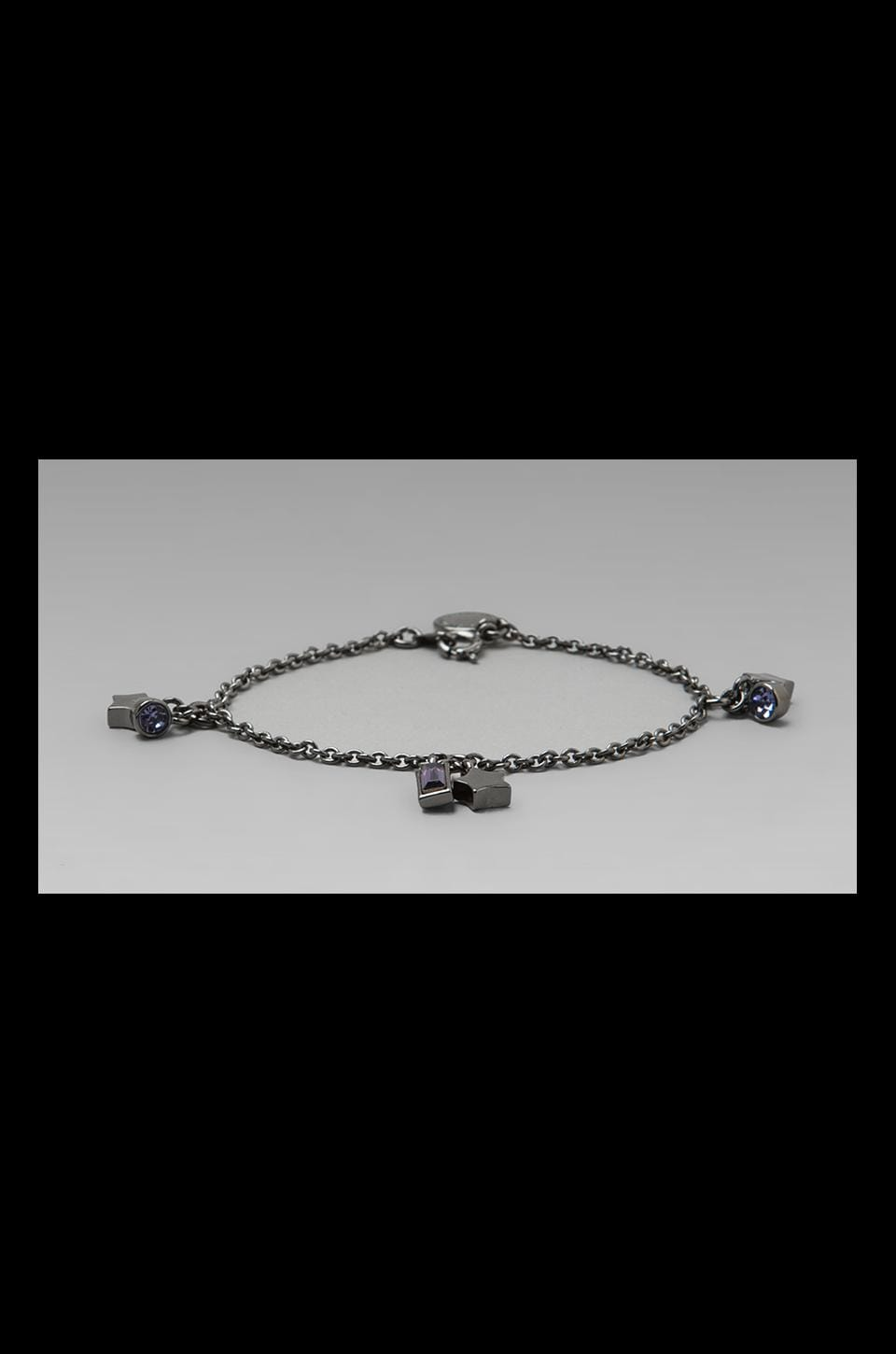 Marc by Marc Jacobs Reluctant Stars Cluster Stars Bracelet in Hematite