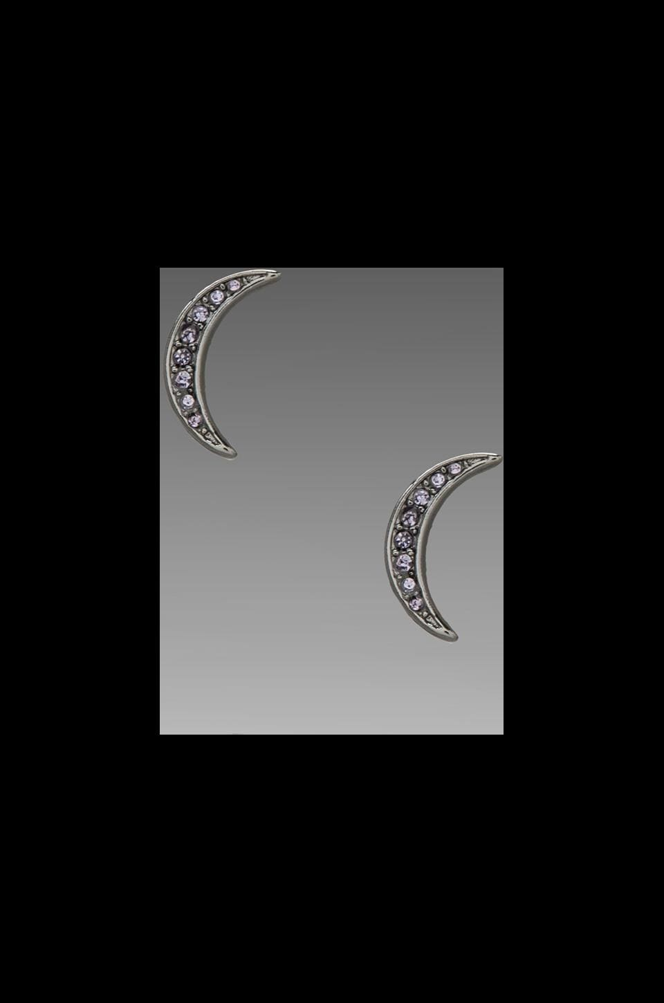 Marc by Marc Jacobs Reluctant Stars Moon Studs in Hematite