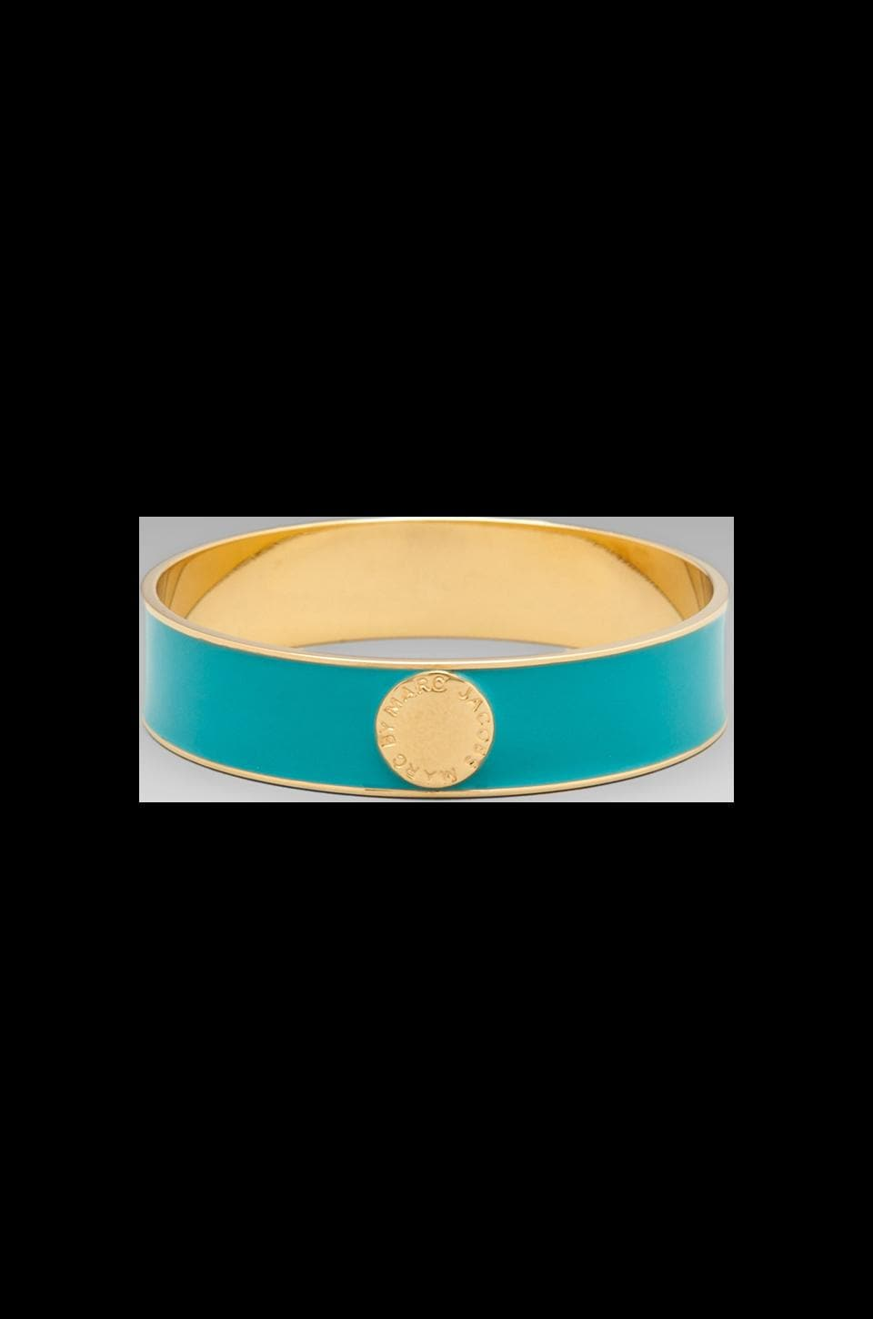 Marc by Marc Jacobs Classic Marc Enamel Disc Bangle in Aqua Foil (Oro)