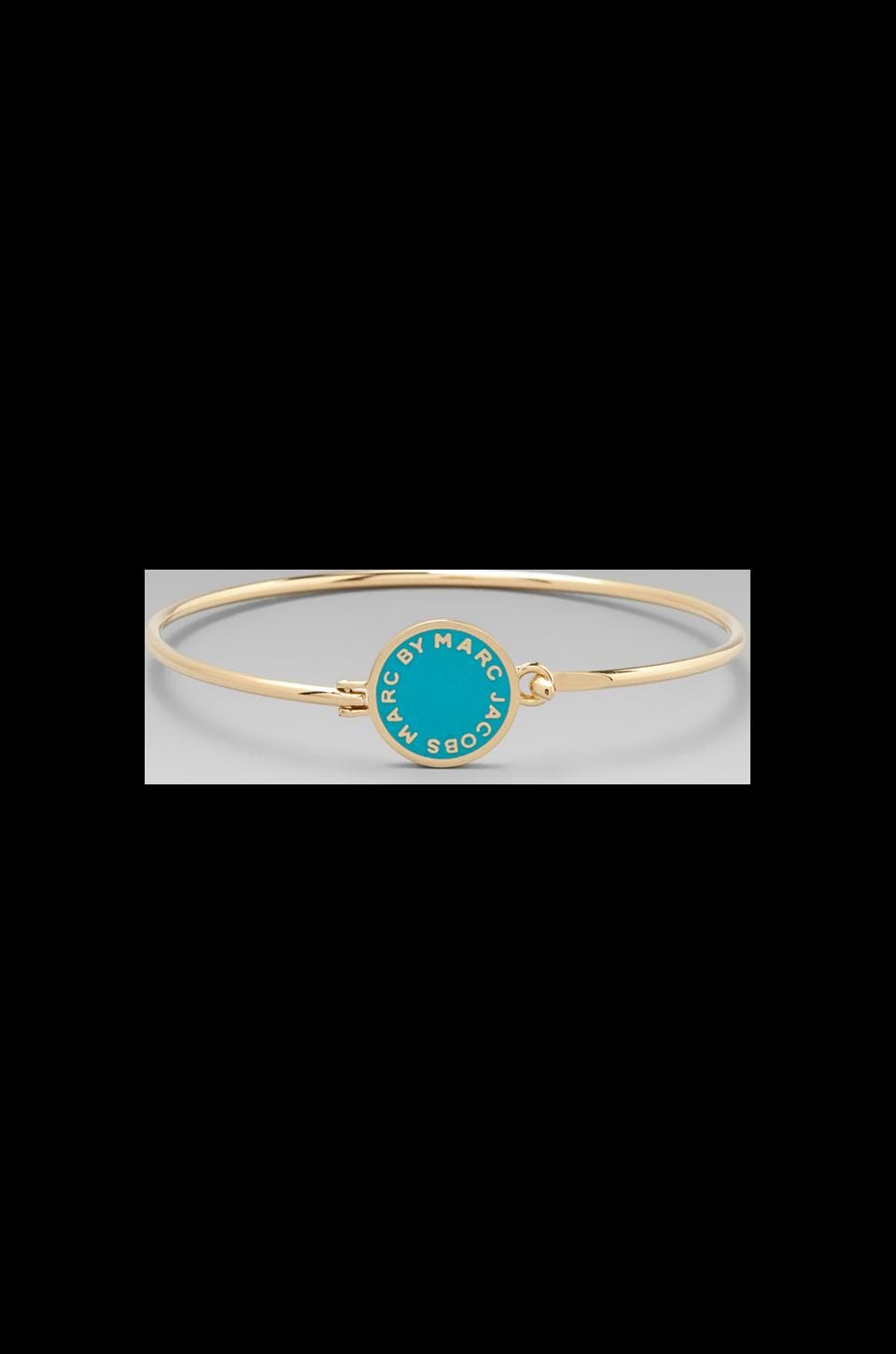Marc by Marc Jacobs Classic Marc Skinny Bracelet in Aqua Foil (Oro)