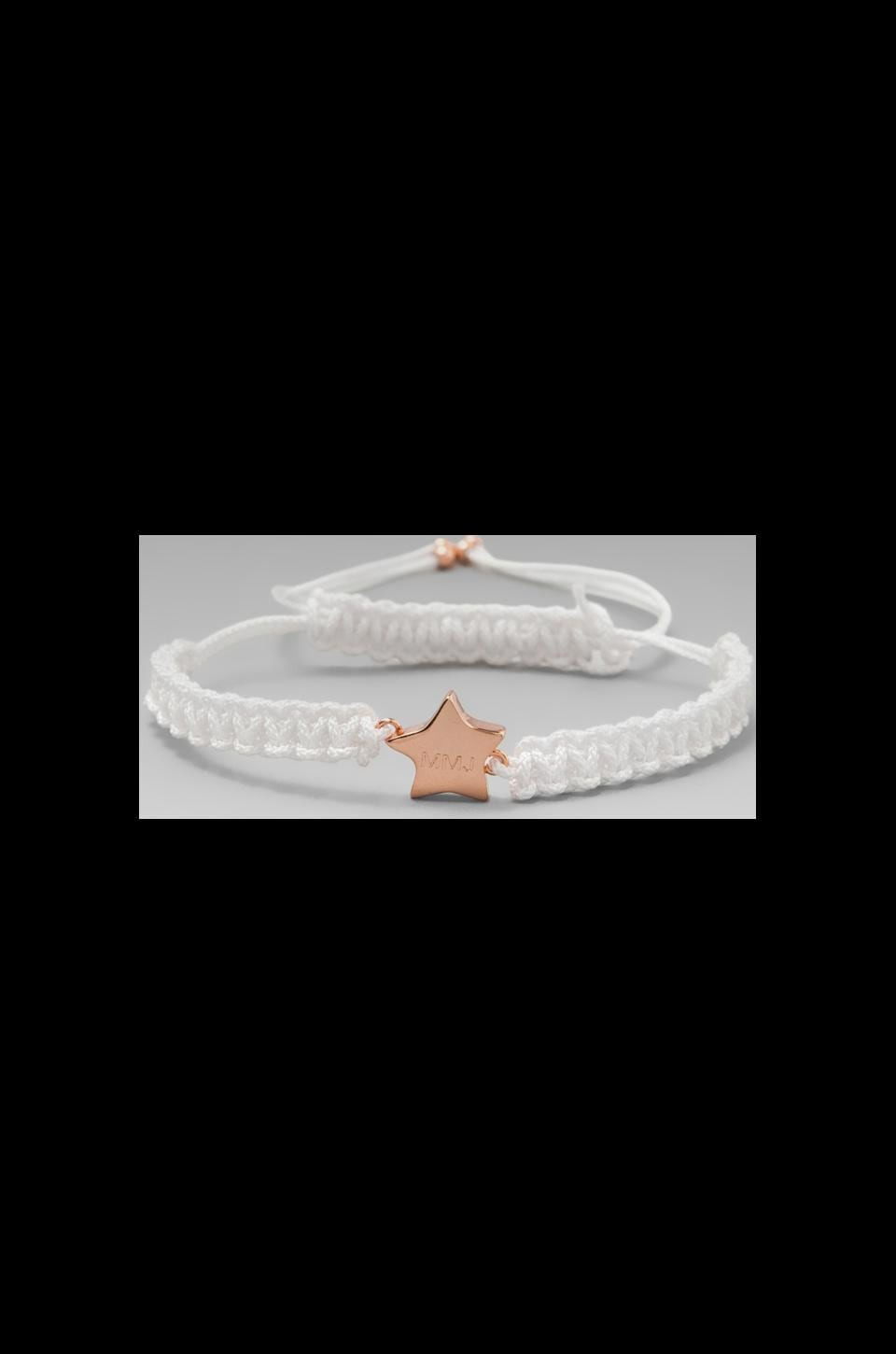 Marc by Marc Jacobs Key Items Multi Woven Star Friendship Bracelet in White (Rose Gold)