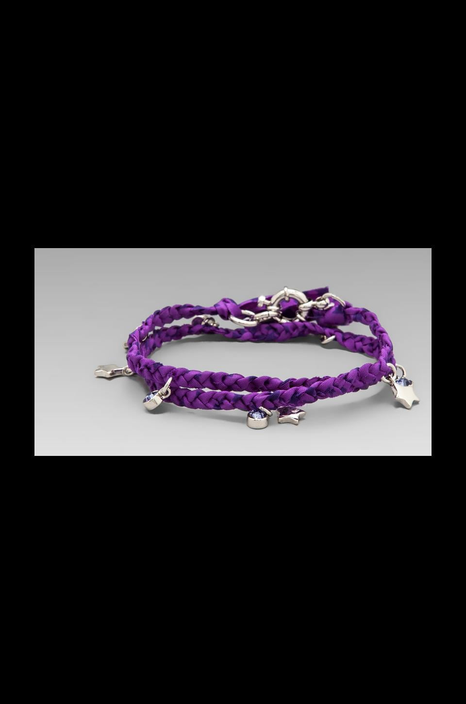 Marc by Marc Jacobs Key Items Braided Charm Double Wrap Bracelet Cosmic Purple Multi (Argento)