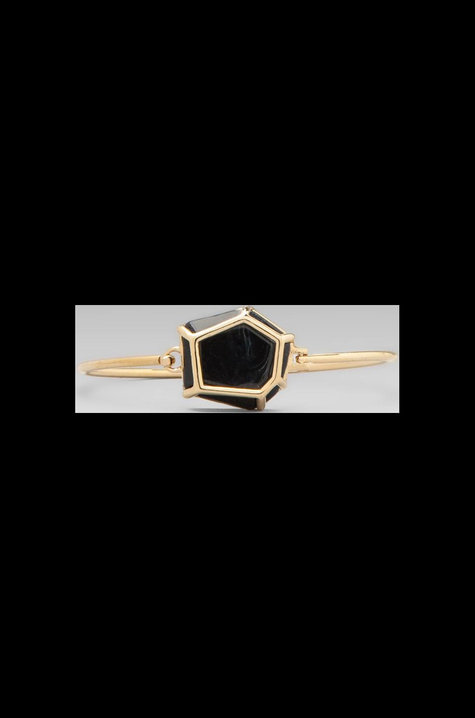 Marc by Marc Jacobs Caged Gem Hinge Cuff in Onyx