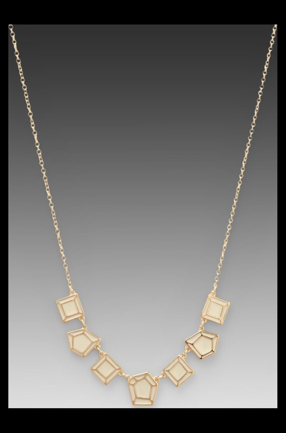 Marc by Marc Jacobs Gem Slices Multi Necklace in Cream/Oro