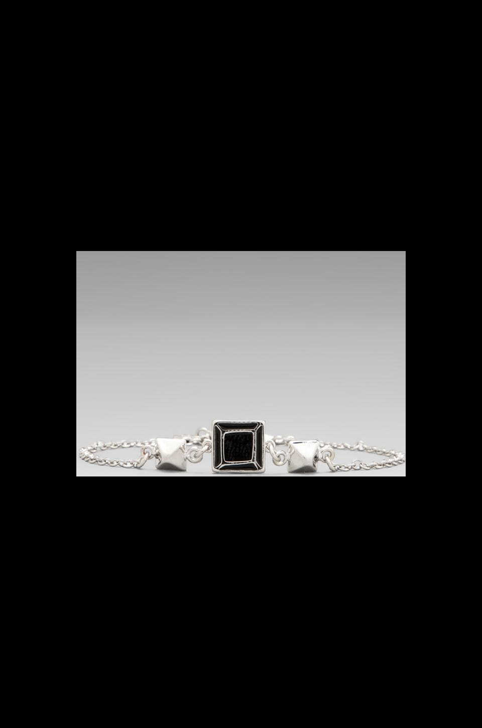 Marc by Marc Jacobs Gem Slices Tiny Gem Bracelet in Black/Argento