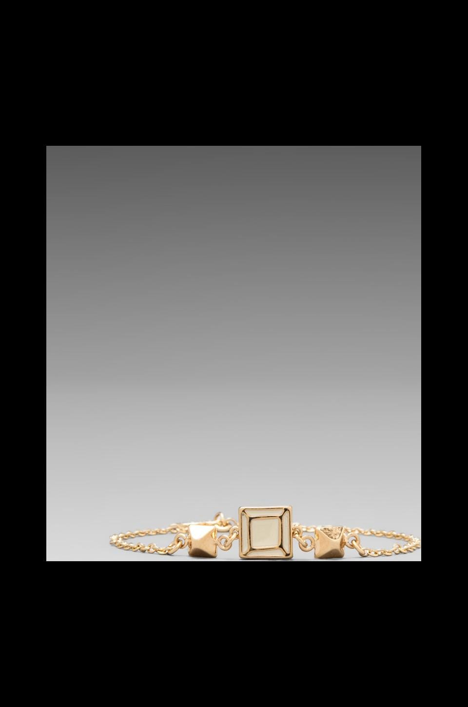 Marc by Marc Jacobs Gem Slices Tiny Gem Bracelet in Cream/ Oro