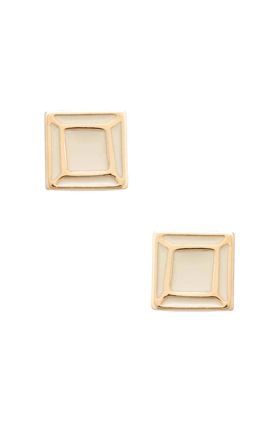 Marc by Marc Jacobs Gem Slice Studs in Cream/Oro