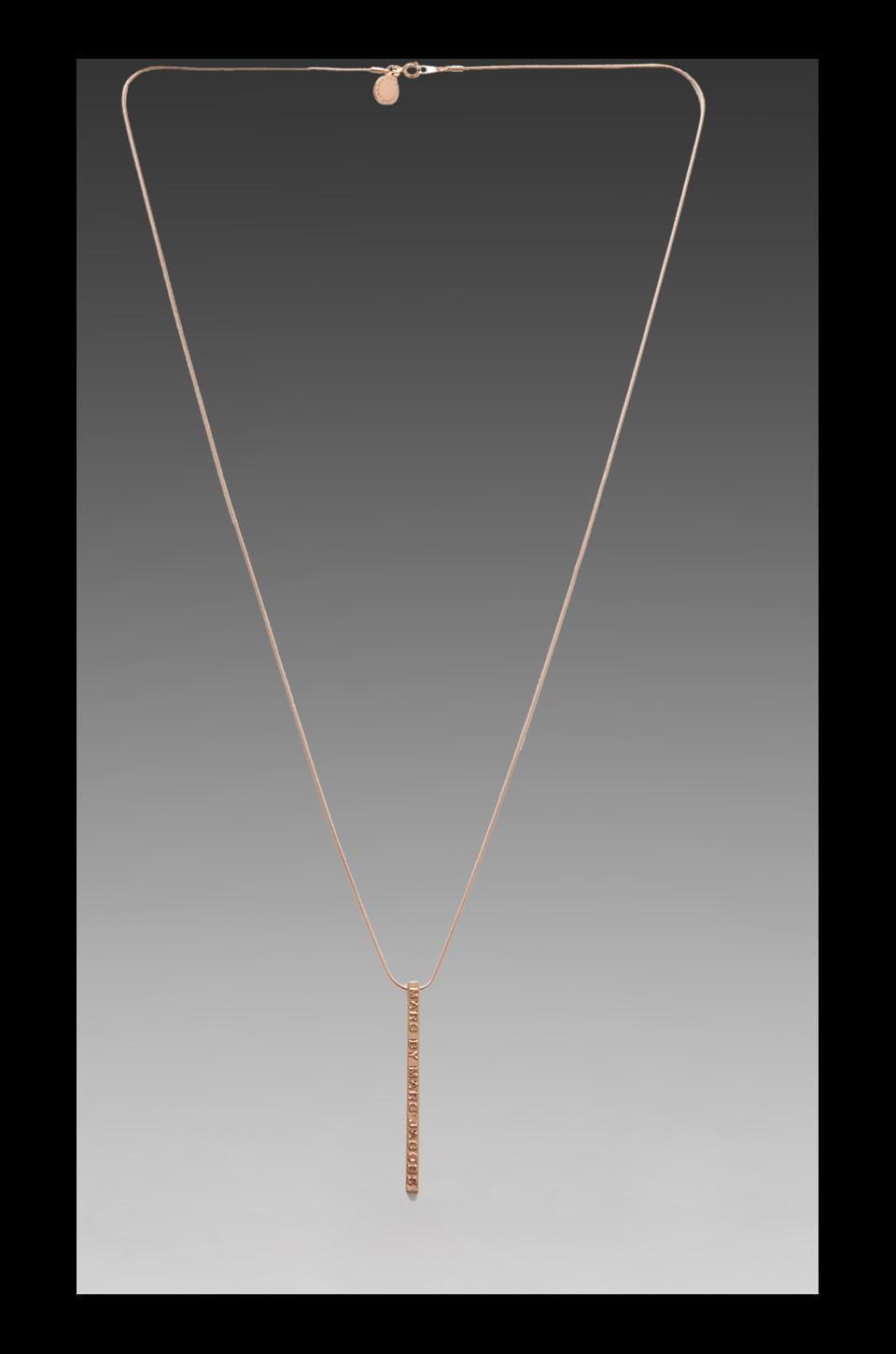 Marc by Marc Jacobs Letterpress Pendant Necklace in Rose Gold