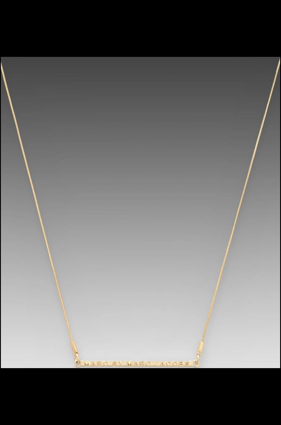 Marc by Marc Jacobs Letterpress Short Necklace in Oro