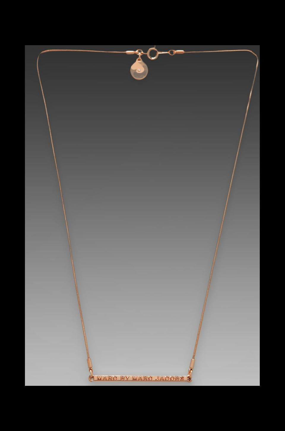 Marc by Marc Jacobs Letterpress Short Necklace in Rose Gold
