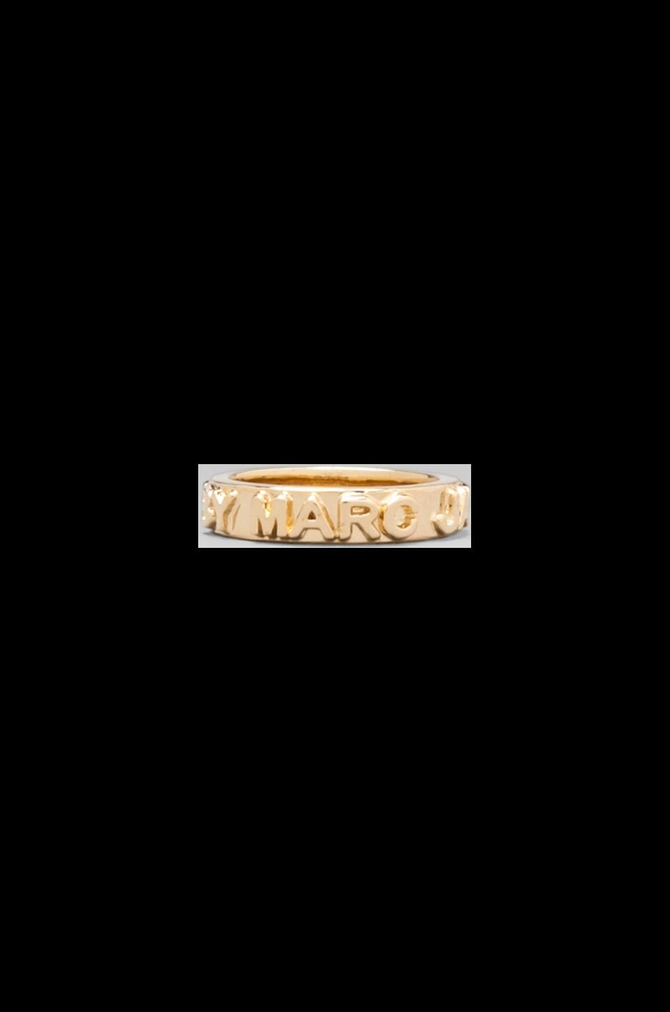 Marc by Marc Jacobs Letterpress Ring in Oro