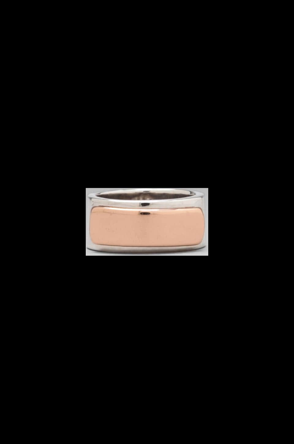 Marc by Marc Jacobs Modern Ring in Rose Gold/Argento