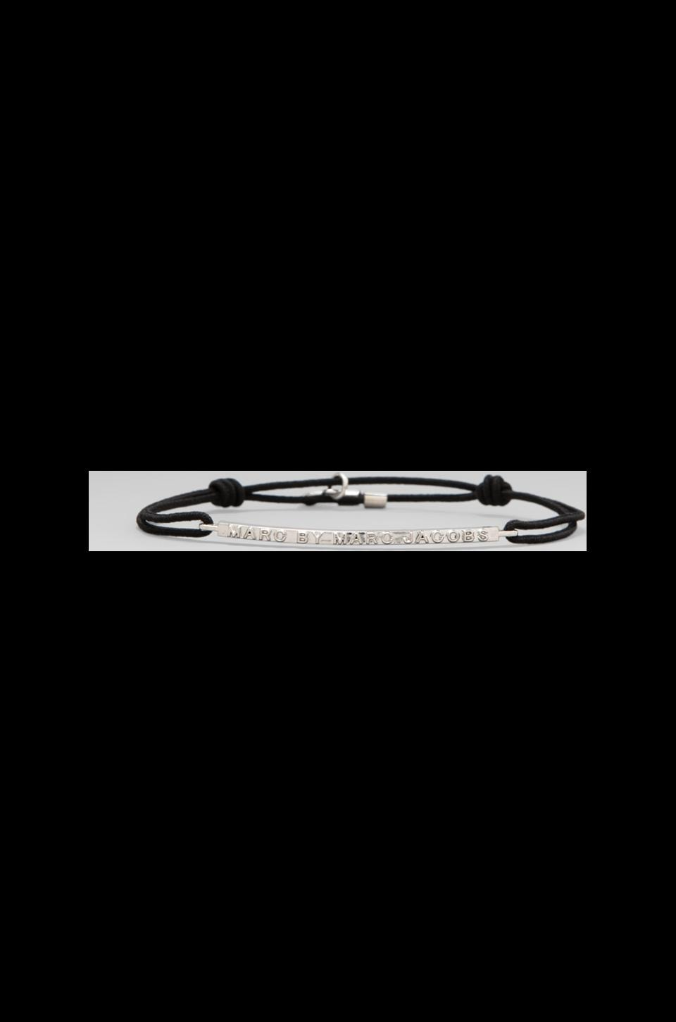 Marc by Marc Jacobs Letterpress Friendship Bracelet in Bauhaus Black/Argento
