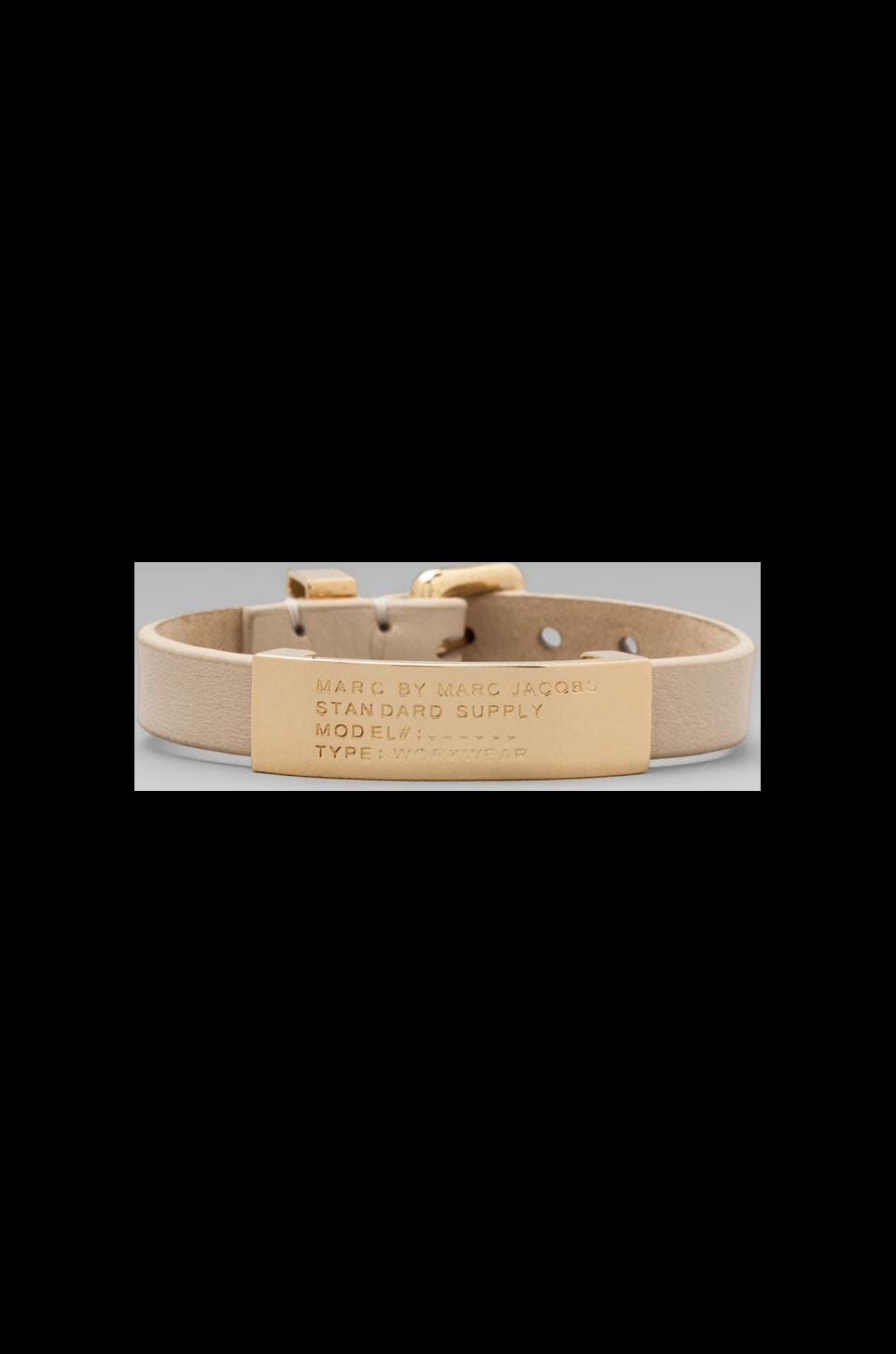 Marc by Marc Jacobs Standard Supply Id Bracelet in Light Sand/ Oro