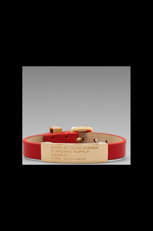 Marc by Marc Jacobs Standard Supply Id Bracelet in Blaze Red/ Oro