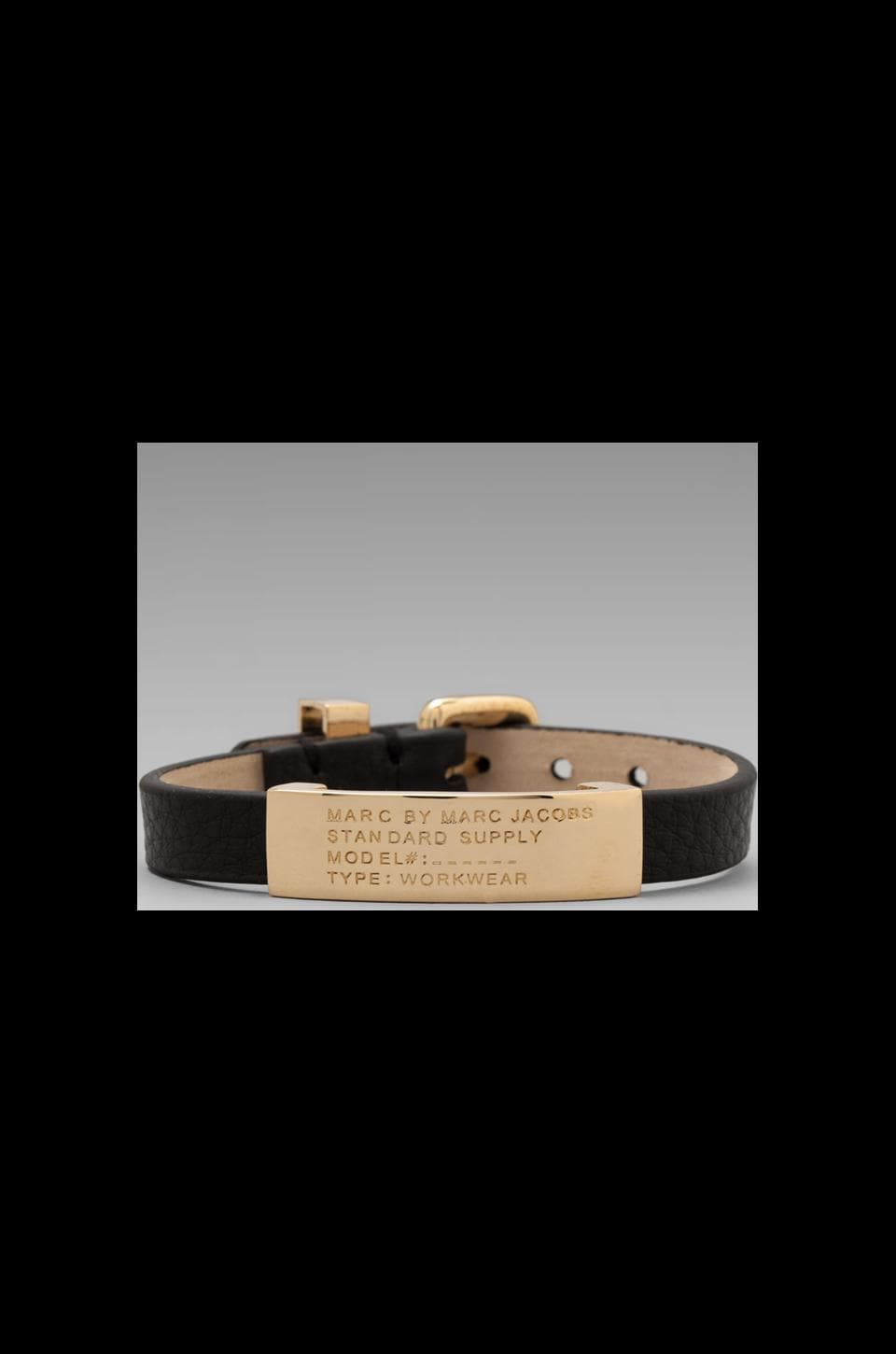 Marc by Marc Jacobs Standard Supply Id Bracelet in Black/ Oro