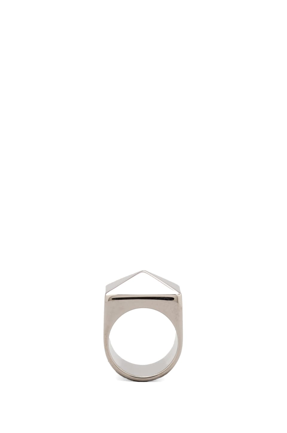 Marc by Marc Jacobs Standard Plaque Ring in Argento