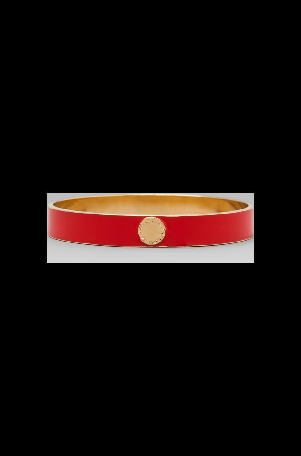 Marc by Marc Jacobs Classic Marc Skinny Enamel Disc Bangle in Blaze Red/Oro