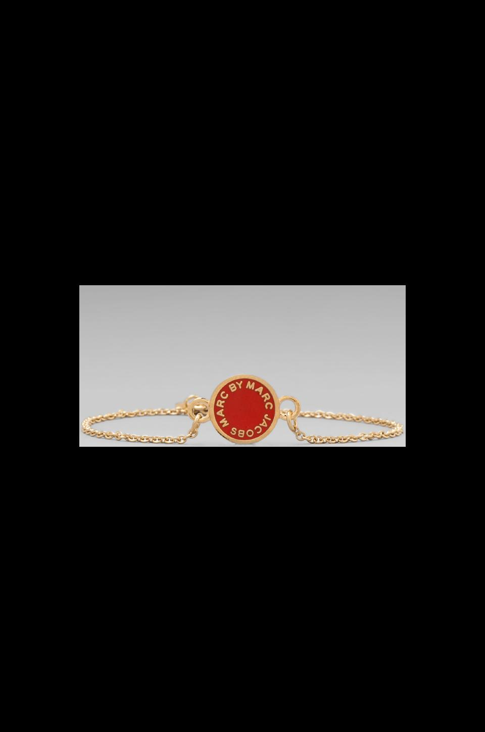Marc by Marc Jacobs Classic Marc Enamel Discs Bracelet in Blaze Red/Oro