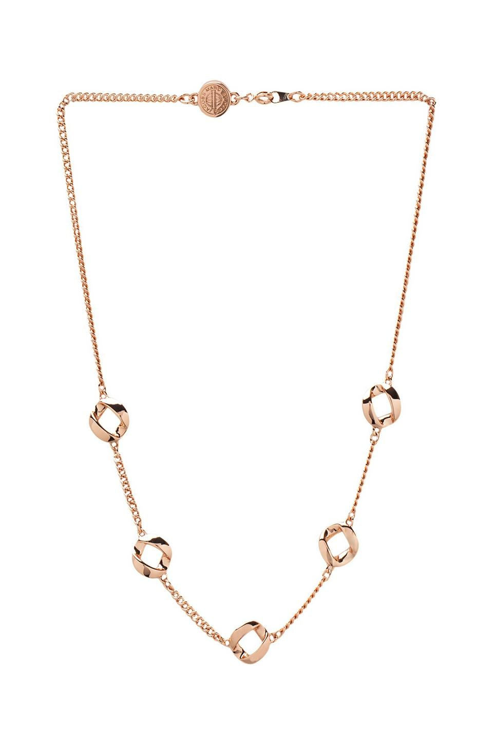 Marc by Marc Jacobs Linked Necklace in Rose Gold
