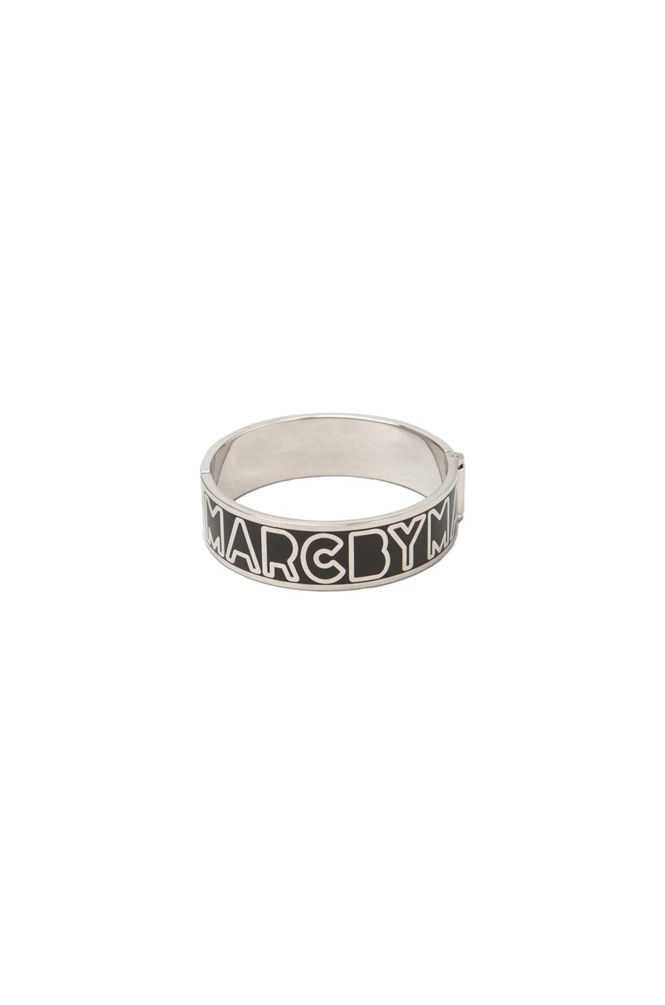 Marc by Marc Jacobs Hinge Bangle in Black Argento
