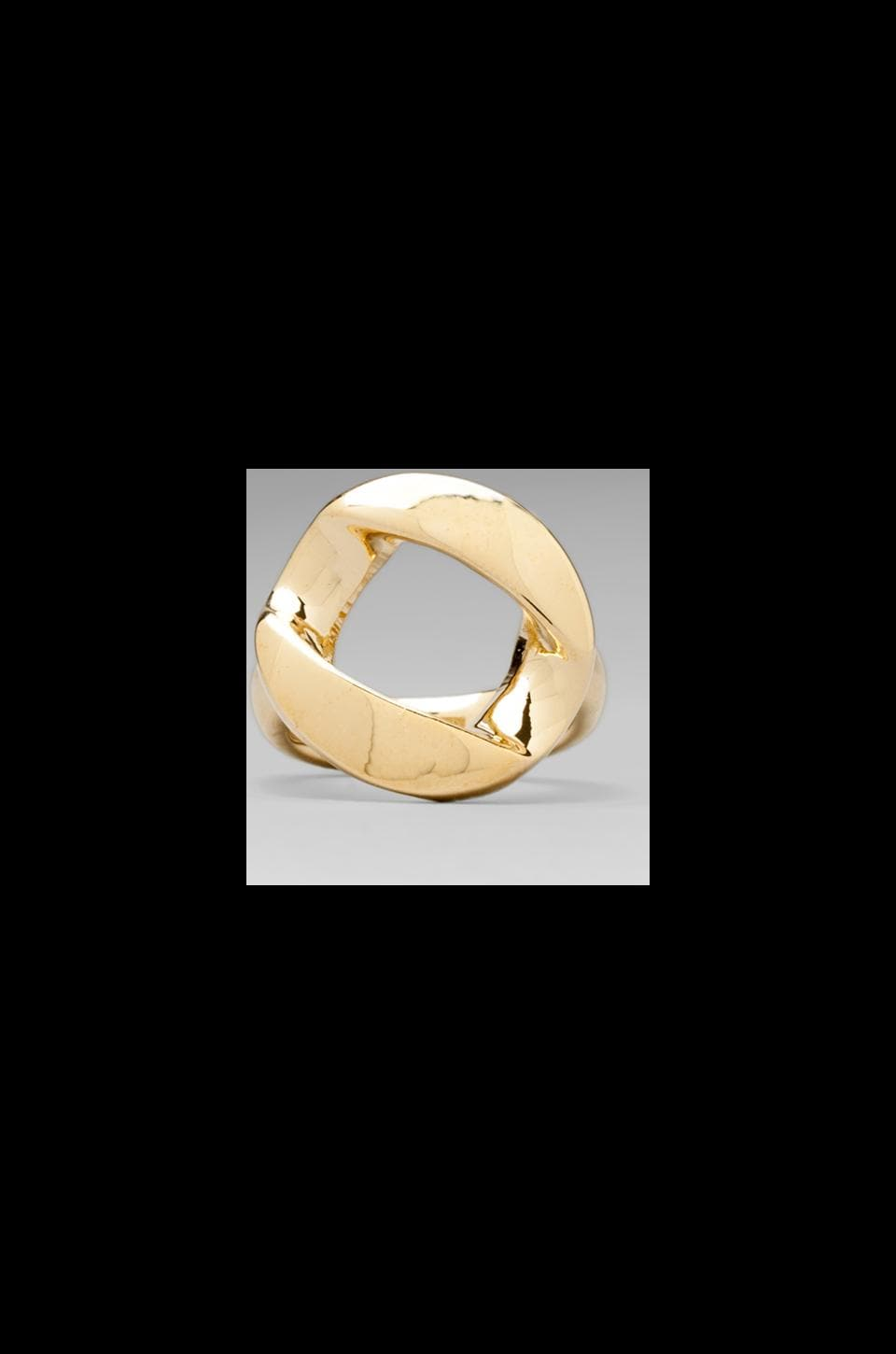 Marc by Marc Jacobs Link to Katie Chunky Ring in Oro