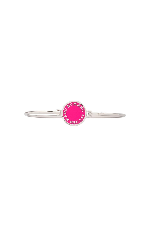Marc by Marc Jacobs Skinny Bracelet in Pop Pink (Argento)