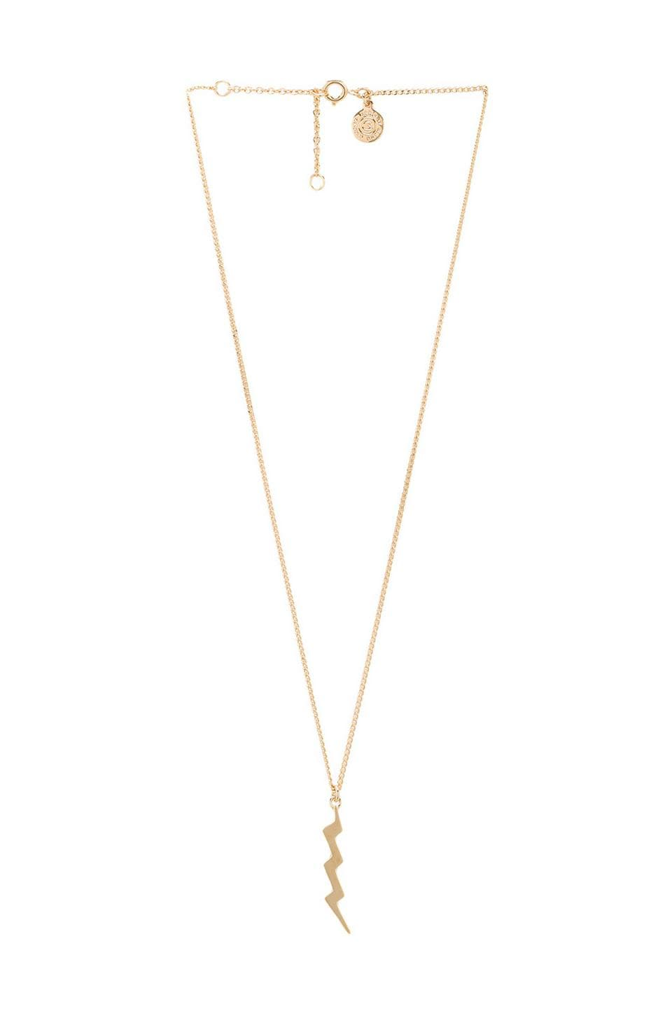 Marc by Marc Jacobs Lightning Bolt Necklace in Oro