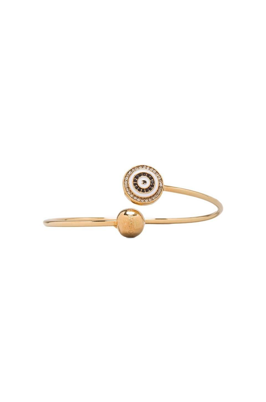 Marc by Marc Jacobs Twist Wire Eye Bracelet in Black/Cream (Oro)