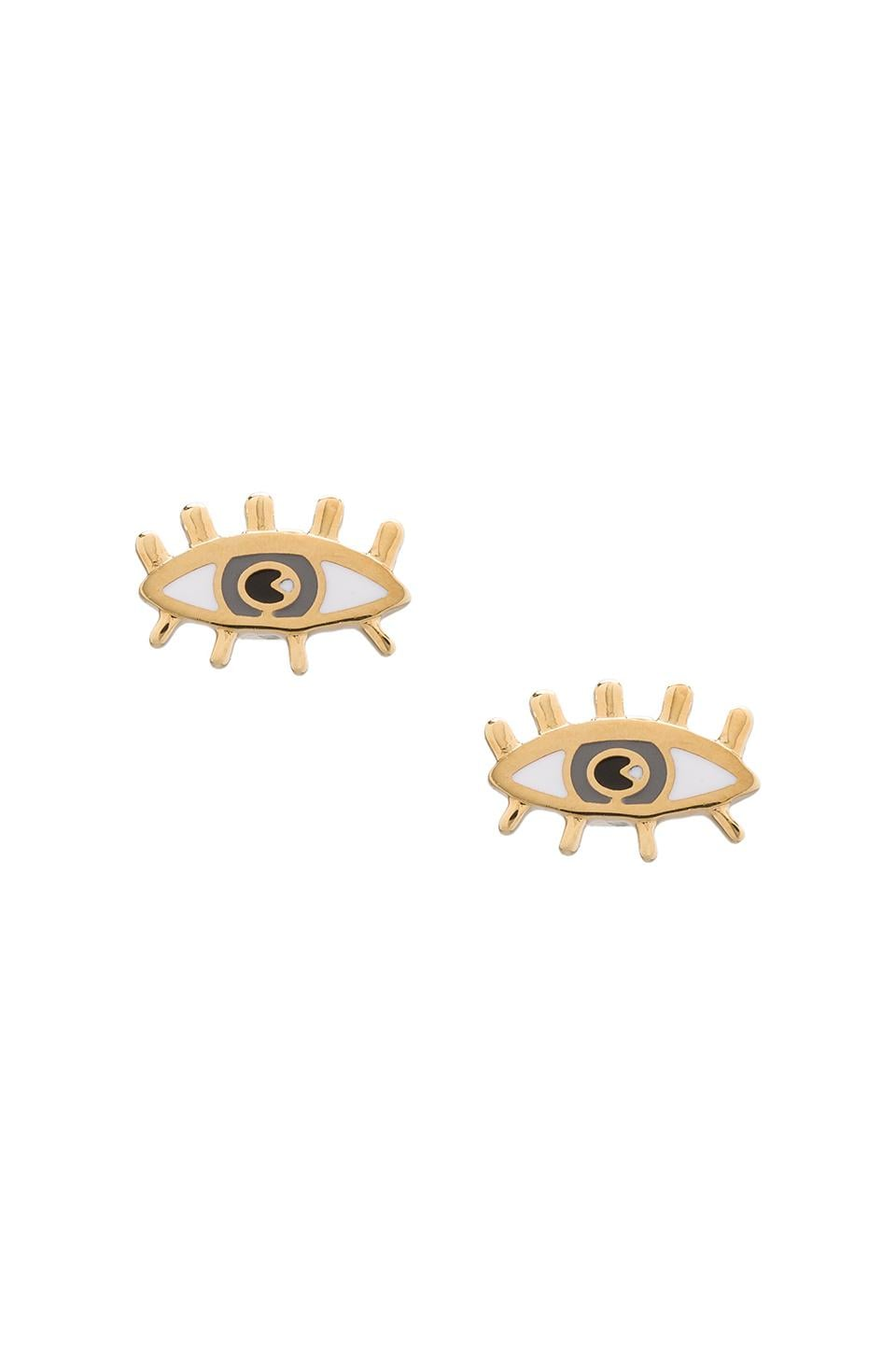 Marc by Marc Jacobs Metal Eye Studs in Oro