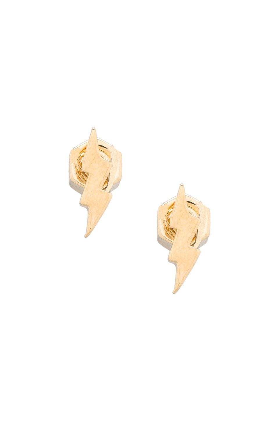 Marc by Marc Jacobs Lightning Bolt Studs in Oro