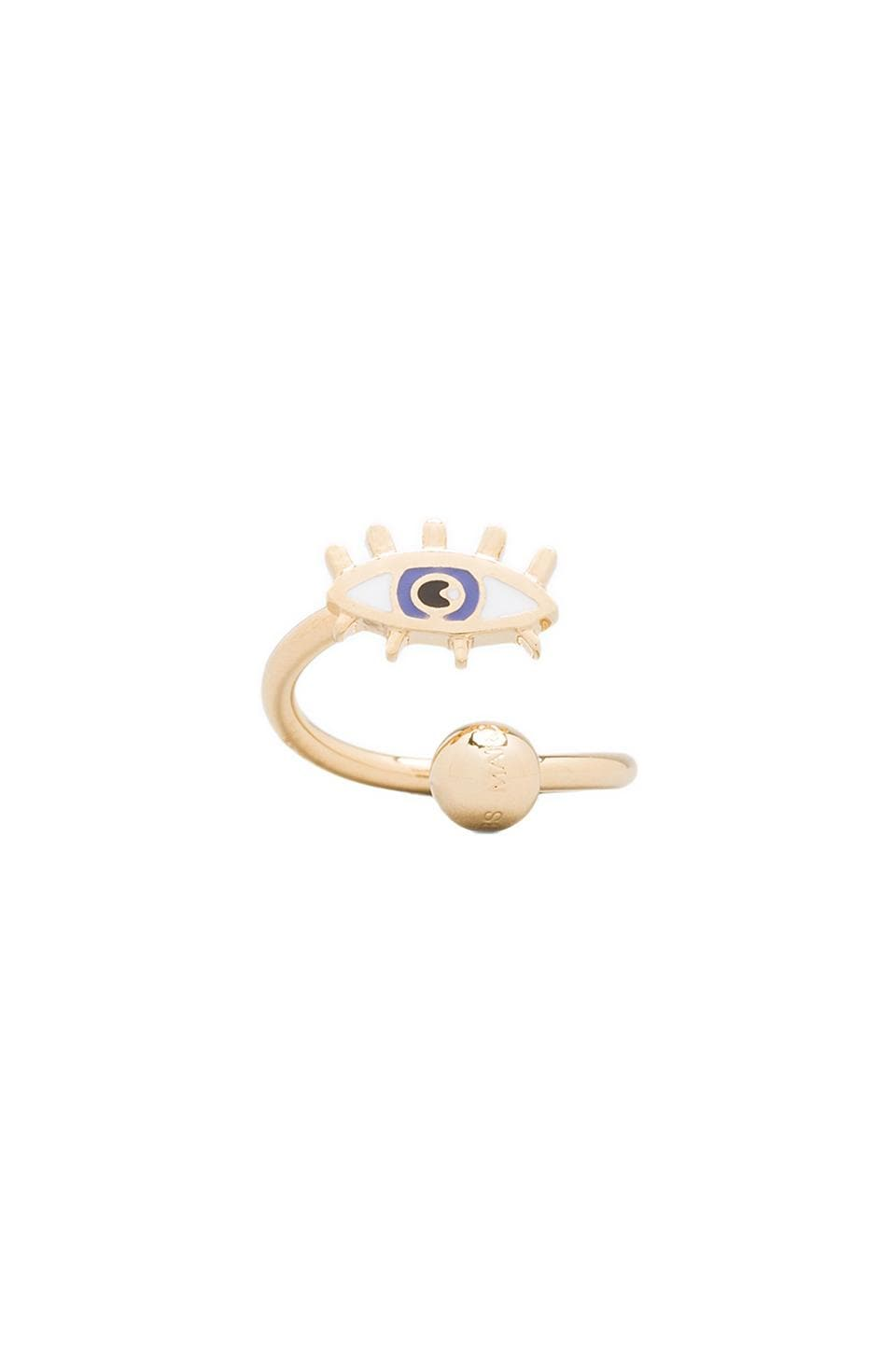 Marc by Marc Jacobs Eye Twist Ring in Foxglove Blue (Oro)