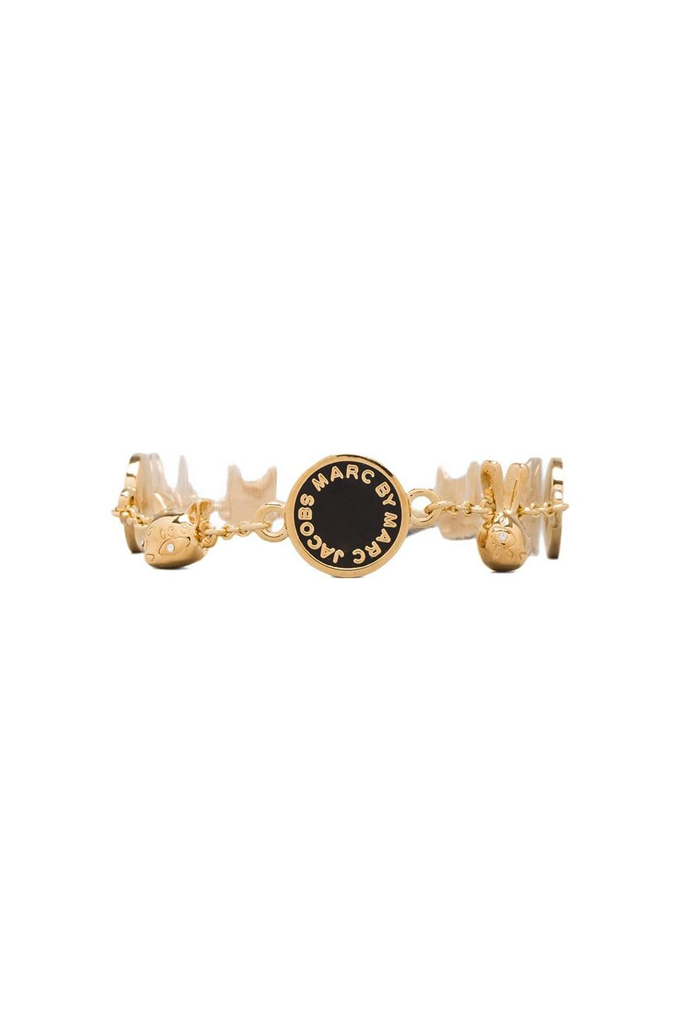 Marc by Marc Jacobs Animals Medley Bracelet in Black (Oro)