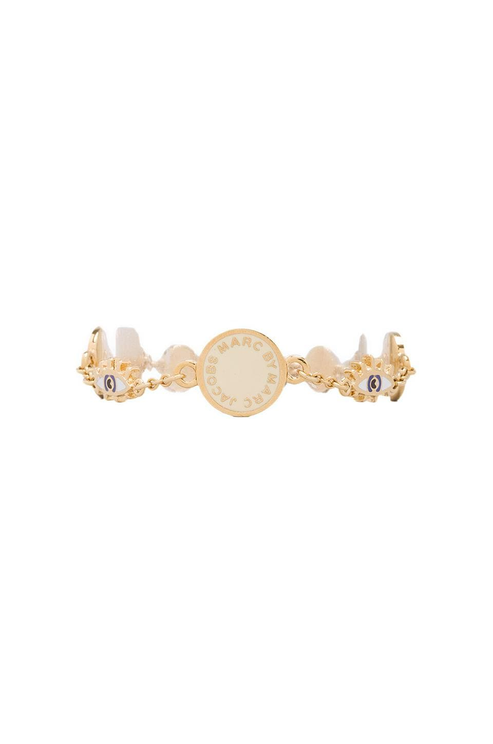 Marc by Marc Jacobs Evil Eye Medley Bracelet in Cream (Oro)