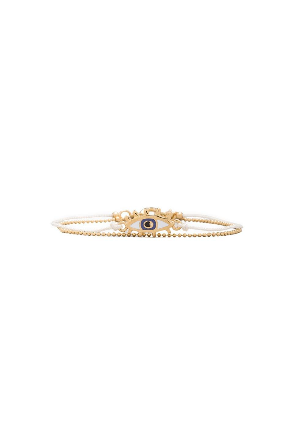 Marc by Marc Jacobs Enamel Eye Friendship Bracelet in Cream (Oro)