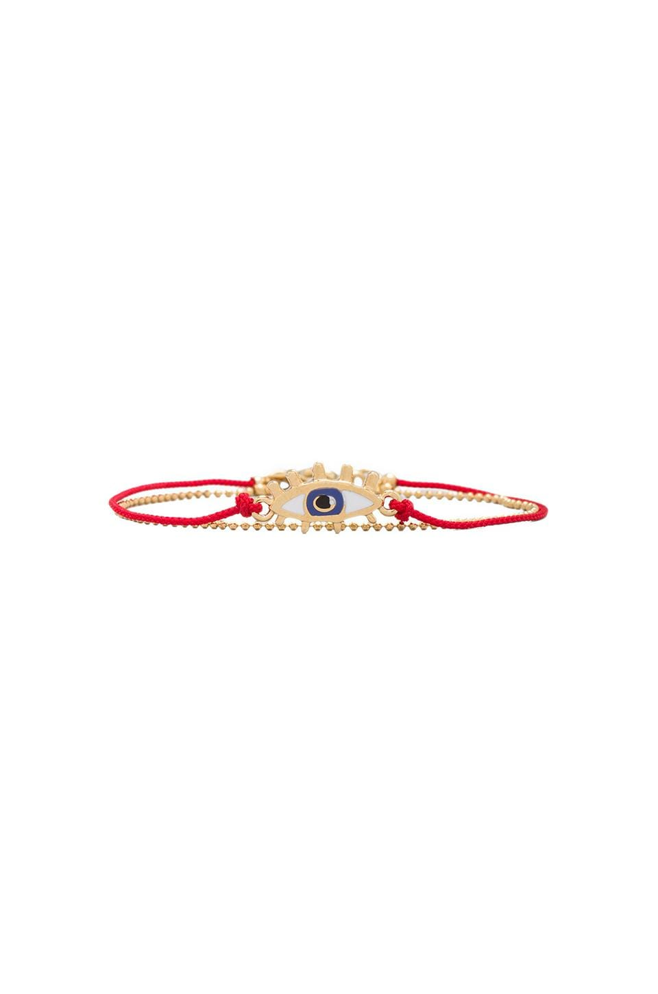 Marc by Marc Jacobs Enamel Eye Friendship Bracelet in Macintosh Apple Red (Oro)
