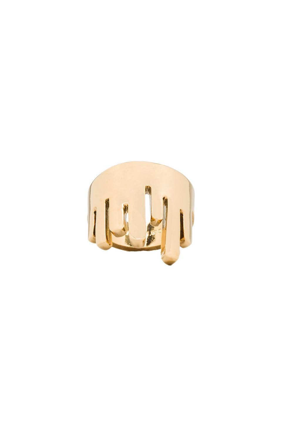 Marc by Marc Jacobs Drippy Metal Ring in Oro