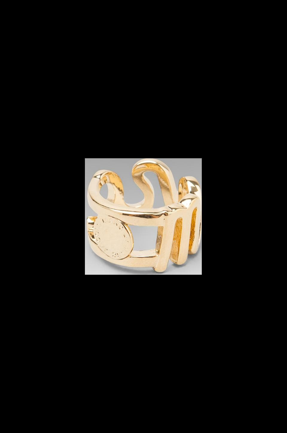 Marc by Marc Jacobs Marc Script Ring in Oro