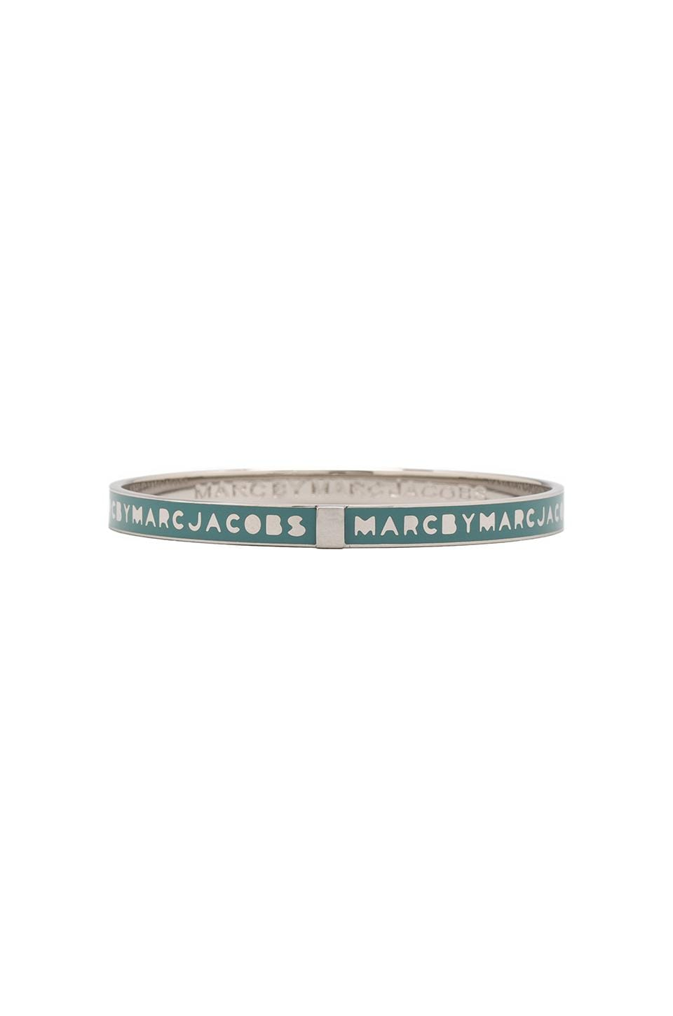 Marc by Marc Jacobs Skinny Logo Bangle in Aqua Lagoon (Argento)