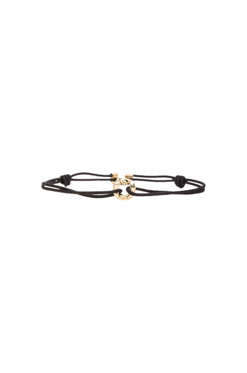 Marc by Marc Jacobs Link Friendship Bracelet in Black (Oro)