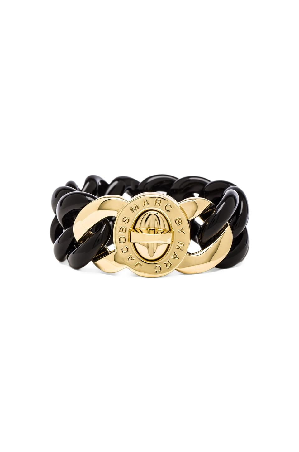 Marc by Marc Jacobs Small Candy Turnlock Bracelet in Black (Oro)