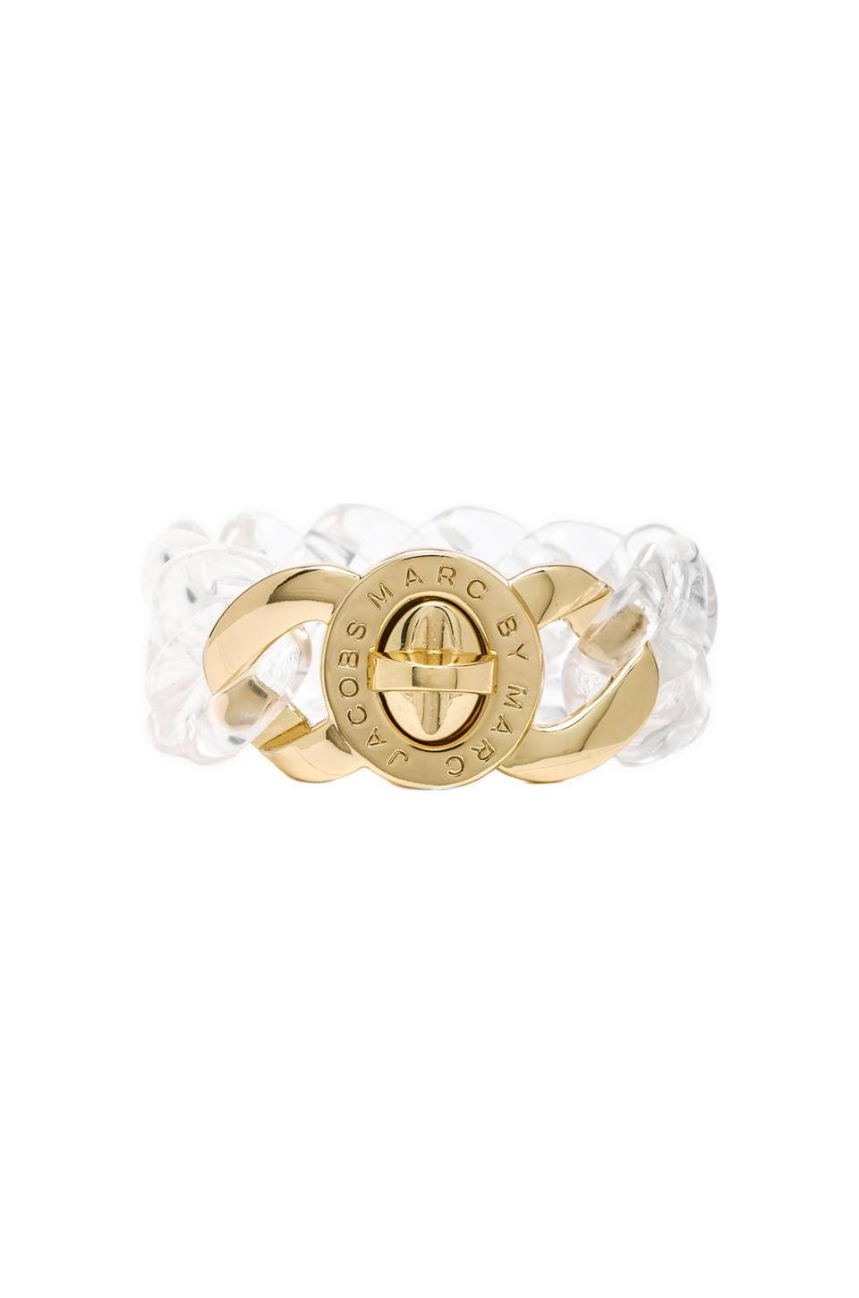Marc by Marc Jacobs Small Candy Turnlock Bracelet in Clear (Oro)