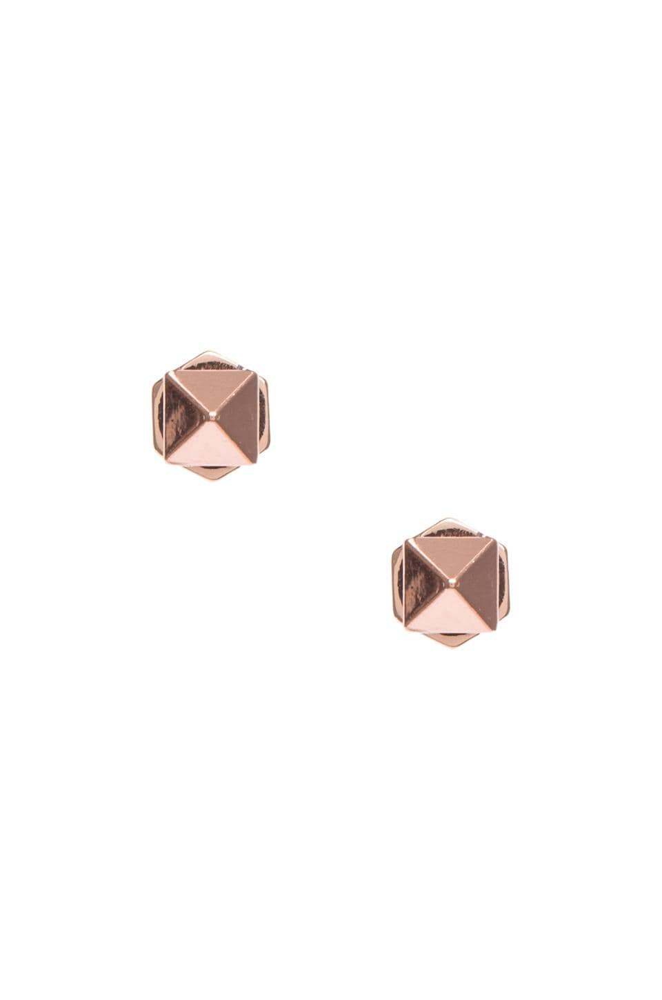 Marc by Marc Jacobs Tiny Studs in Rose Gold