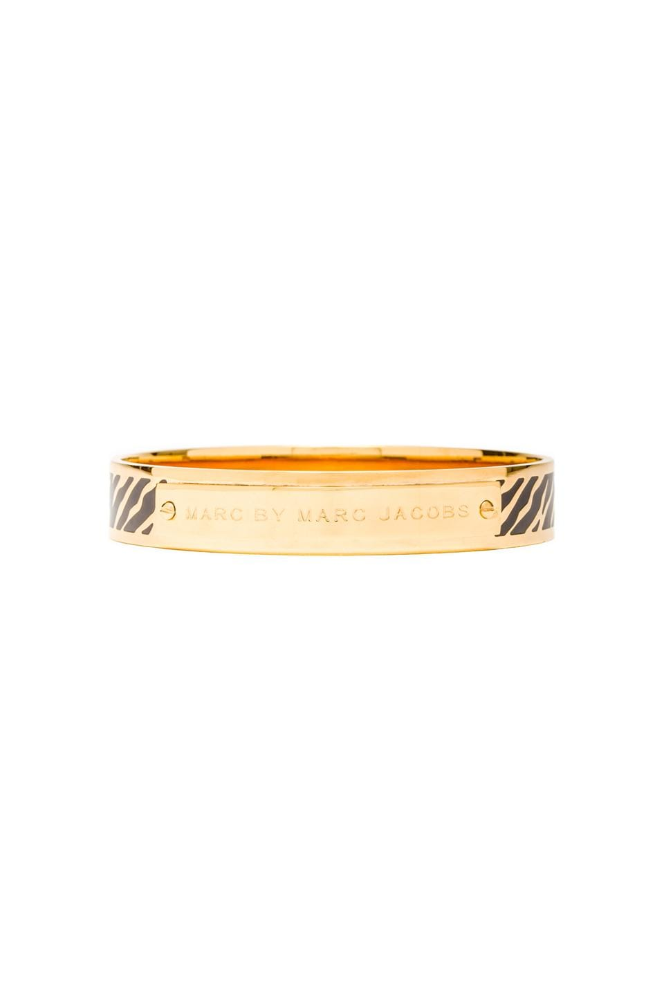 Marc by Marc Jacobs Zebra Print Bangle in Black (Oro)