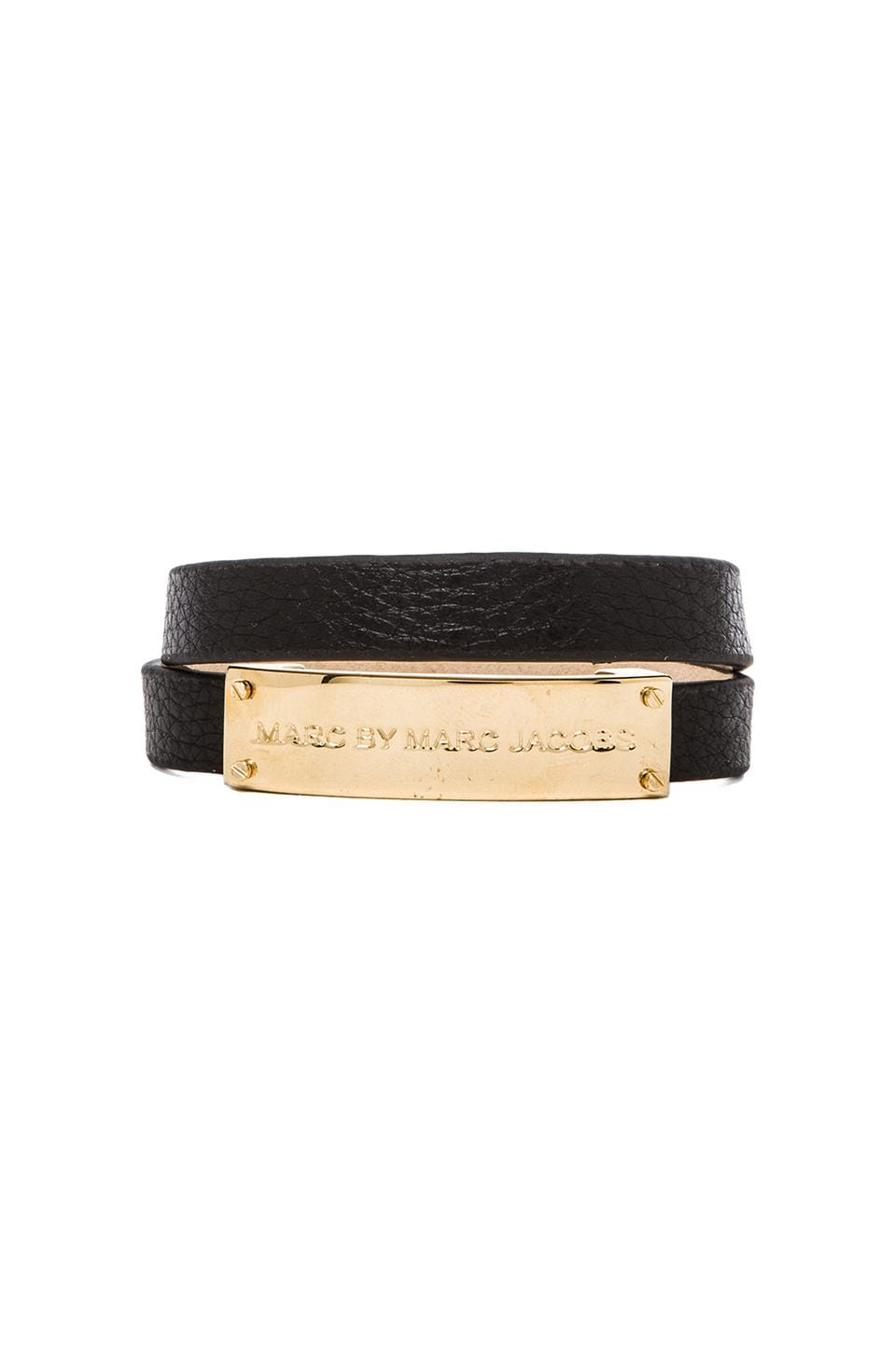 Marc by Marc Jacobs New Plaque Double Wrap in Black (Oro)