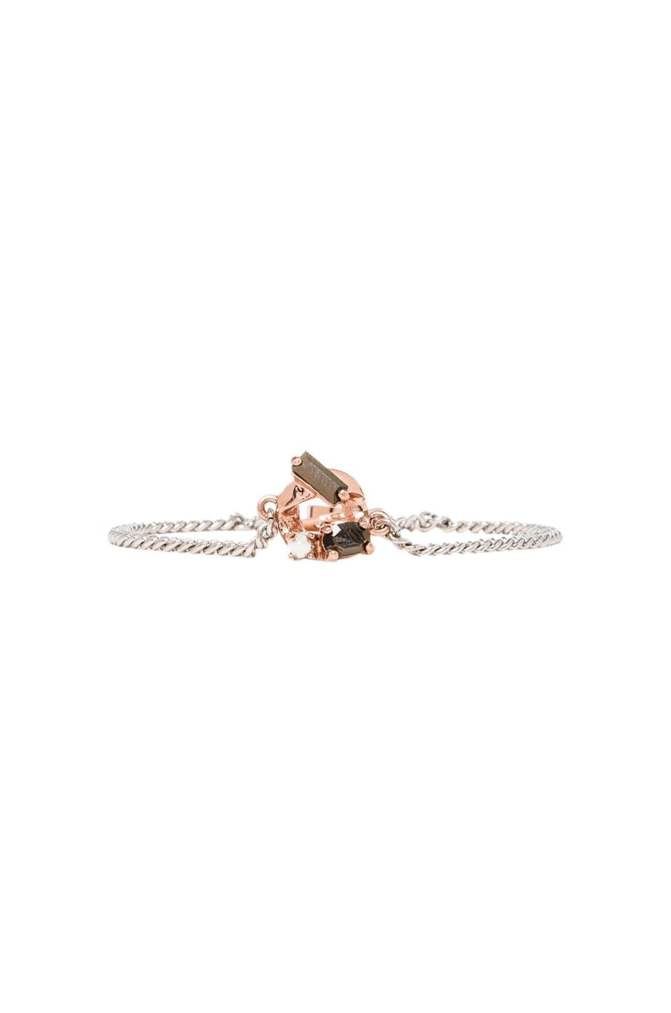 Marc by Marc Jacobs Embellished Tiny Bracelet in Argento & Rose Gold