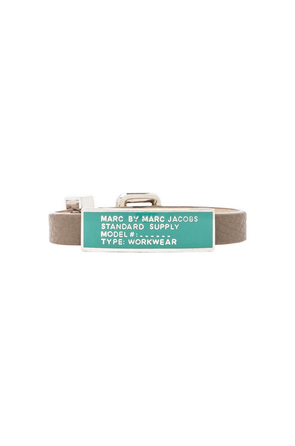 Marc by Marc Jacobs Enamel Standard Supply ID Bracelet in Warm Zinc & Aqua Lagoon (Argento)