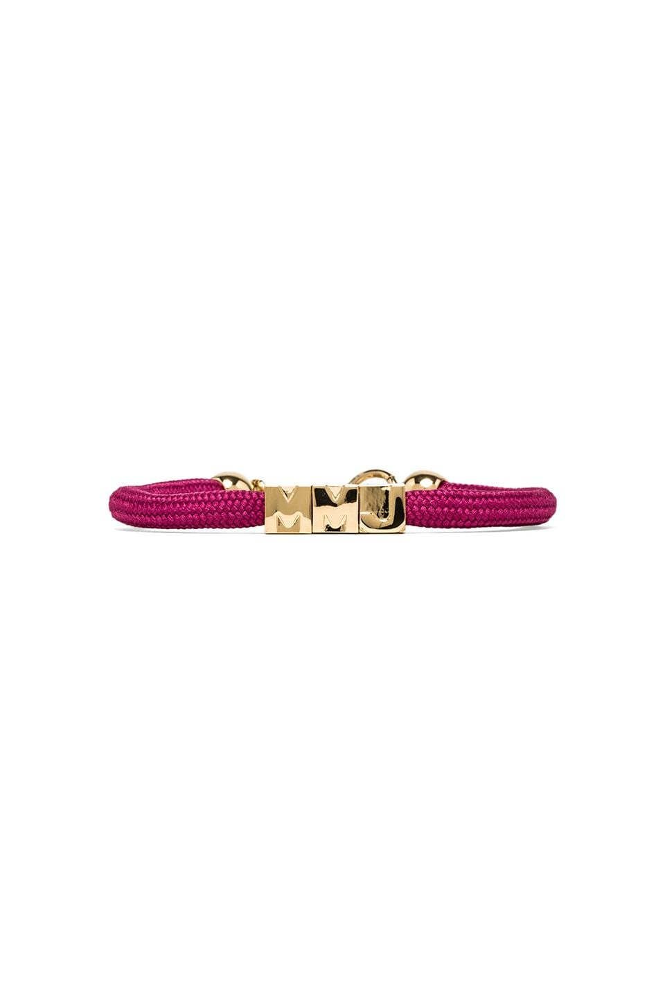 Marc by Marc Jacobs Grab & Go MMJ Slider Bracelet in Rosa Mexicana & Oro