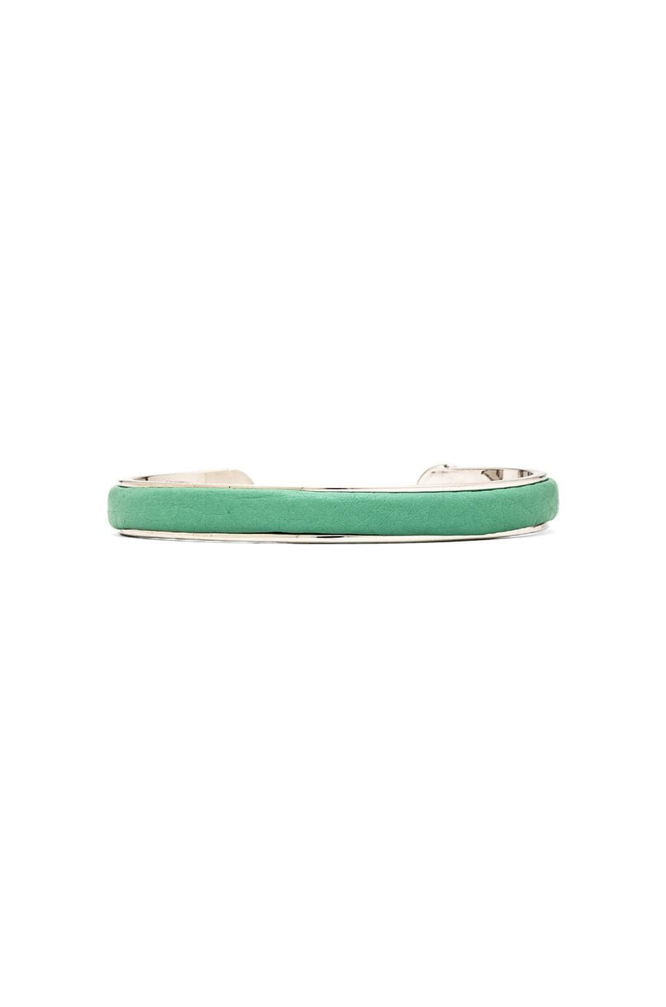 Marc by Marc Jacobs Leather Cuff in Minty & Argento