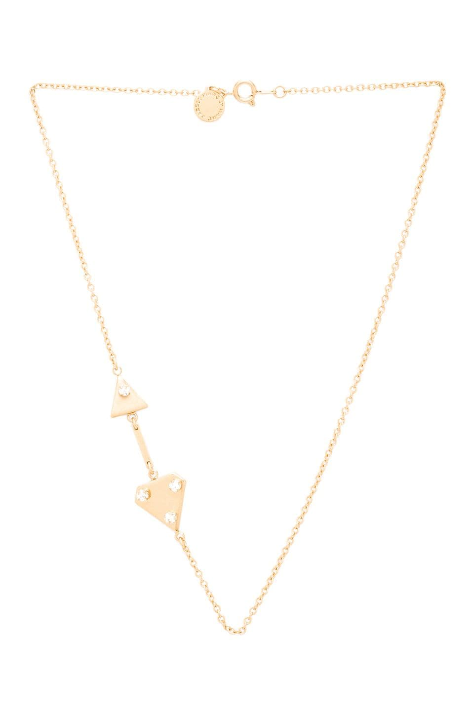 Marc by Marc Jacobs Diamond Dogs Disconnected Necklace in Antique Gold